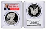 2017 W 1oz Silver Eagle Proof PCGS PR70 DCAM - Donald Trump - First Day of Issue - 1 of 2000