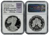 1993 P 1oz Silver Eagle Proof NGC PF70 Ultra Cameo - Elizabeth Jones Signed