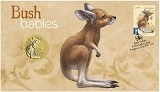 2011 Australian Bush Babies - Kangaroo Stamp and Coin Cover