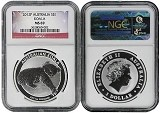 2012 P Australia 1oz Silver Koala NGC MS69 Flag Label