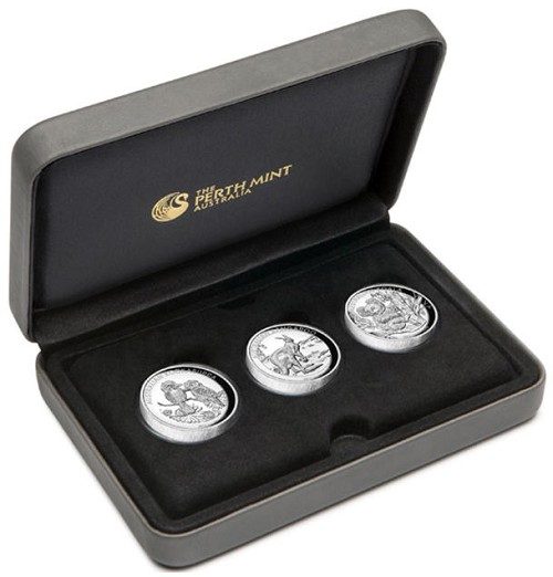 2013 Australia 1oz Silver High Relief Collection 3 Coin Set