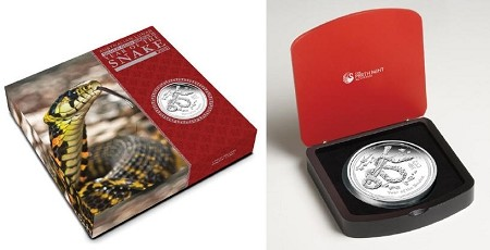 2013 Australia Lunar Series II Year of Snake Kilo Silver Proof Coin