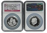 2013 Australia 1oz Silver High Relief Kookaburra NGC PF70 UC One of first 500 Struck Flag Label