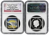2013 P Australia 1oz Silver Seasons Summer Square Coin NGC PF70 Early Releases Flag Label