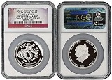 2013 P Australia Silver High Relief Snake NGC PF70 UC One Of First 500 Struck Flag Label