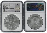 2014 Silver Eagle NGC MS70 MLB Players Series Derek Jeter