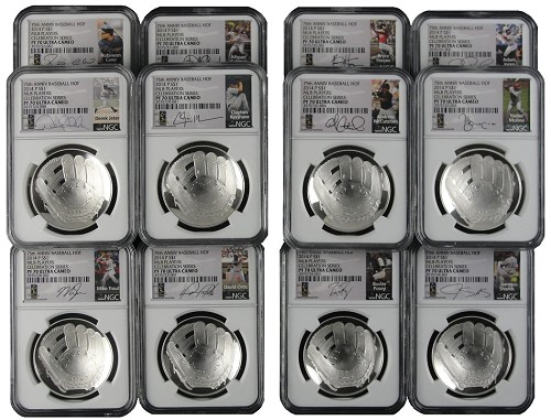 2014 P National Baseball Hall of Fame Proof Dollar Set NGC PF70 UC MLB Players All 12 Players