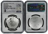2014 P National Baseball Hall of Fame Proof Silver Dollar NGC PF70 UC MLB Players Derek Jeter