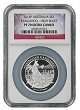 2014 Australia Silver Kangaroo High Relief NGC PF70 Ultra Cameo - Flag Label