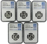 2015 S National Park Clad Quarter Set NGC PF70 UC - First Day Issue - 1st Label
