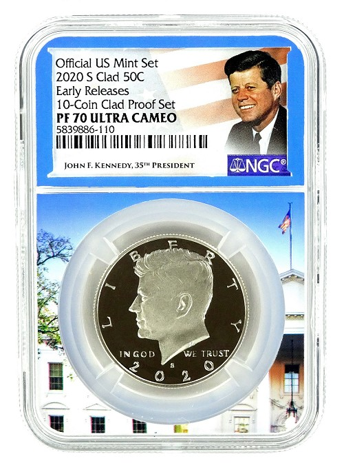 2020 S Kennedy Clad Half NGC PF70 Ultra Cameo - Early Releases - White House Core - Kennedy Label
