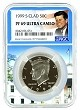 1999 S Kennedy Clad Half NGC PF69 Ultra Cameo - White House Core