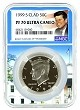 1999 S Kennedy Clad Half NGC PF70 Ultra Cameo - White House Core