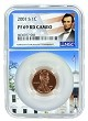 2001 S Lincoln Penny NGC PF69 RD Ultra Cameo - White House Core