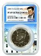 2001 S Kennedy Clad Half NGC PF69 Ultra Cameo - White House Core