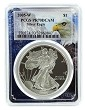 2005 W 1oz Silver Eagle Proof PCGS PR70 DCAM - Eagle Picture Frame