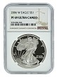 2006 W 1oz Silver Eagle Proof NGC PF69 Ultra Cameo - Brown Label