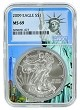 2009 1oz Silver American Eagle NGC MS69 - Statue Of Liberty Core