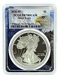 2010 W 1oz Silver Eagle Proof PCGS PR70 DCAM - Eagle Picture Frame