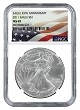 2011 1oz Silver American Eagle NGC MS69 - Flag Label