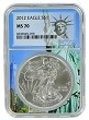 2012 1oz Silver American Eagle NGC MS70 - Statue Of Liberty Core