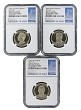 2016 S Presidential Dollar Three Coin Set NGC PF70 Ultra Cameo - 1st Day Issue