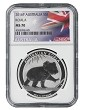 2016 Australia 1oz Silver Koala NGC MS70 - Flag Label