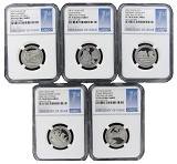 2017 S National Park Clad Quarter Set NGC PF70 Ultra Cameo - First Day Issue