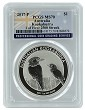 2017 Australia 1oz Silver Kookaburra PCGS MS70 - One of first 2500 Struck