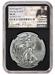 2018 1oz Silver American Eagle NGC MS70 - First Day Issue - Liberty Coin Act Label - Black Core