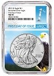 2019 W Burnished Silver Eagle NGC MS70 - First Day Issue - Eagle Core