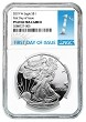 2019 W 1oz Silver Eagle Proof NGC PF69 Ultra Cameo - White Core - First Day Issue Label