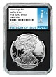 2019 W 1oz Silver Eagle Proof NGC PF70 Ultra Cameo - Black Core - First Day Issue Label