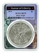 2019 1oz Silver Eagle PCGS MS70 - Statue Of Liberty Frame
