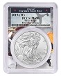2019 (w) Struck At West Point Silver Eagle PCGS MS70 - First Day Issue - West Point Frame