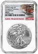 2020 (s) Emergency Production Silver Eagle NGC MS69 - Early Releases - Trolley Label