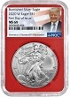 2020 W Burnished Silver Eagle NGC MS69 - First Day Issue - Red Core - Trump Label - Presale