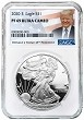 2020 S 1oz Silver Eagle Proof NGC PF69 Ultra Cameo - Donald Trump Label
