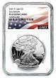 2020 S 1oz Silver Eagle Proof NGC PF69 Ultra Cameo - Early Releases - Flag Label
