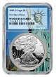 2020 S 1oz Silver Eagle Proof NGC PF69 Ultra Cameo - First Day Issue - Statue Of Liberty Core