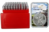 2020 1oz Silver Eagle NGC MS70 - First Day Issue - Eagle Core - 10 Pack w/Case