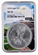 2020 1oz Silver Eagle NGC MS70 - Eagle Core