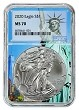 2020 1oz Silver Eagle NGC MS70 - Statue Of Liberty Core