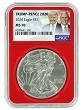 2020 1oz Silver Eagle NGC MS70 - Red Core - Trump / Pence 2020 Label