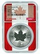 2020 Canada 1oz Silver Maple Leaf NGC MS70 - Flag Core
