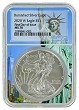 2020 W Burnished Silver Eagle NGC MS70 - First Day Issue - Statue Of Liberty Core - Presale