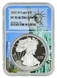 2020 W 1oz Silver Eagle Proof NGC PF70 Ultra Cameo - Statue Of Liberty Core