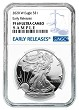 2020 W 1oz Silver Eagle Proof NGC PF69 Ultra Cameo - Early Releases - Blue Label