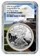 2020 W Congratulations Set Silver Eagle Proof NGC PF69 Ultra Cameo - First Day - Eagle Core