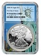 2020 W 1oz Silver Eagle Proof NGC PF70 Ultra Cameo - First Day - Statue Of Liberty Core